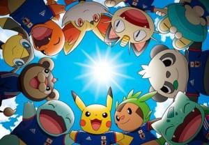 Pokemon als Fußballmaskottchen der Japaner (Foto: pokefans.net)
